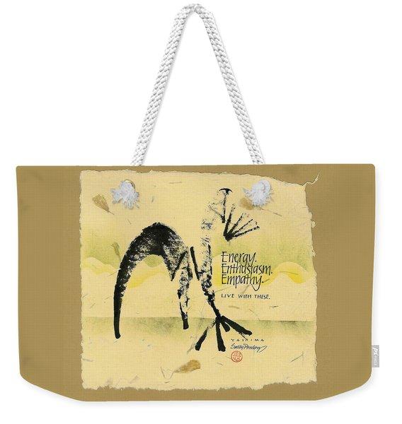 Three E's Weekender Tote Bag