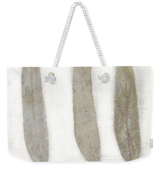 Three Eucalyptus Leaves Weekender Tote Bag
