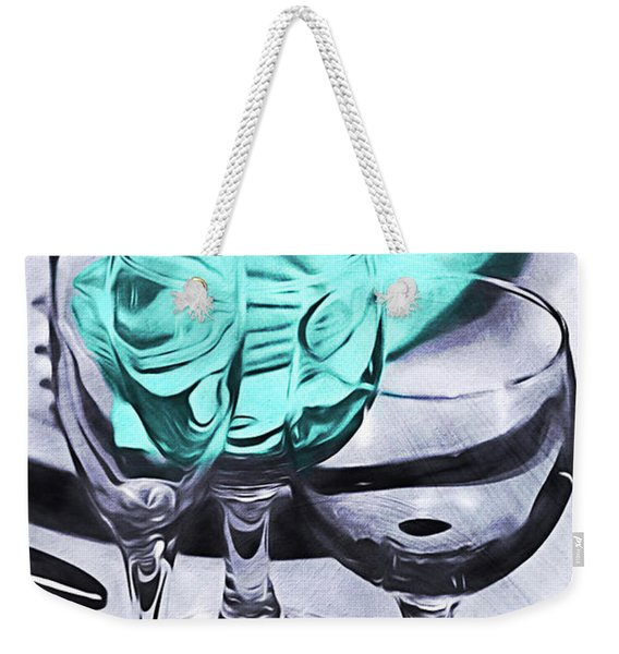 Three Glass Illusion Weekender Tote Bag