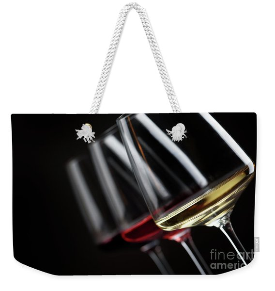Three Glass Of Wine Weekender Tote Bag