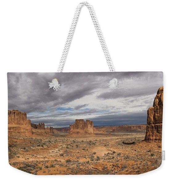 Three Gossips And Courthouse Towers Panorama - Arches National Park - Moab Utah Weekender Tote Bag