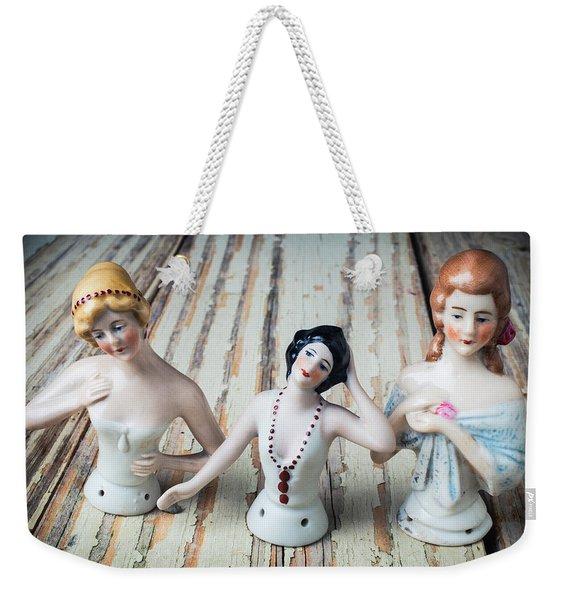 Three Half Dolls Weekender Tote Bag