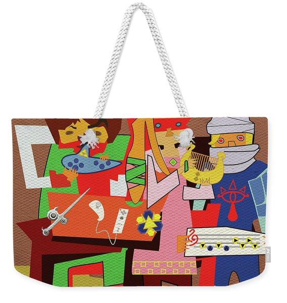 Three Legendary Musicians Weekender Tote Bag