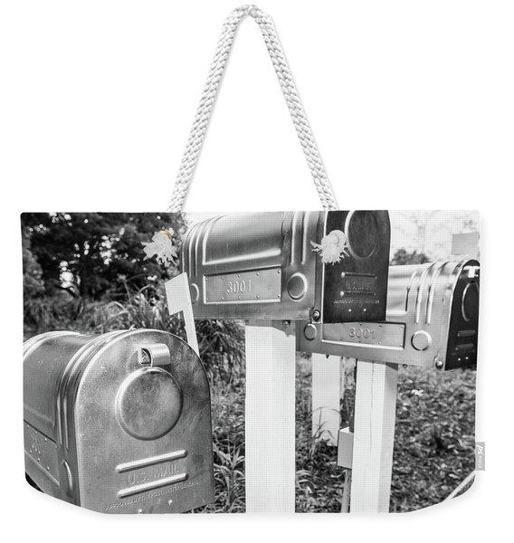 Three Mailboxes Weekender Tote Bag