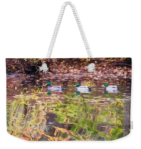Three Mallards. Weekender Tote Bag