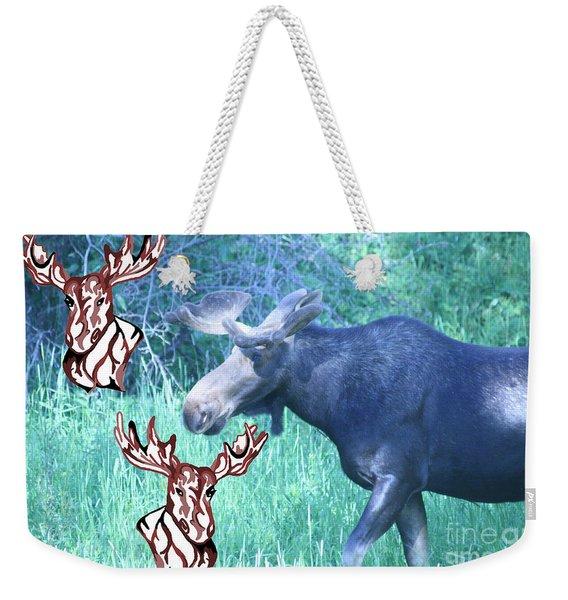 Three Moose Weekender Tote Bag
