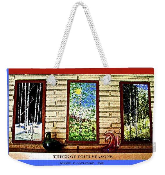 Three Of Four Seasons Weekender Tote Bag
