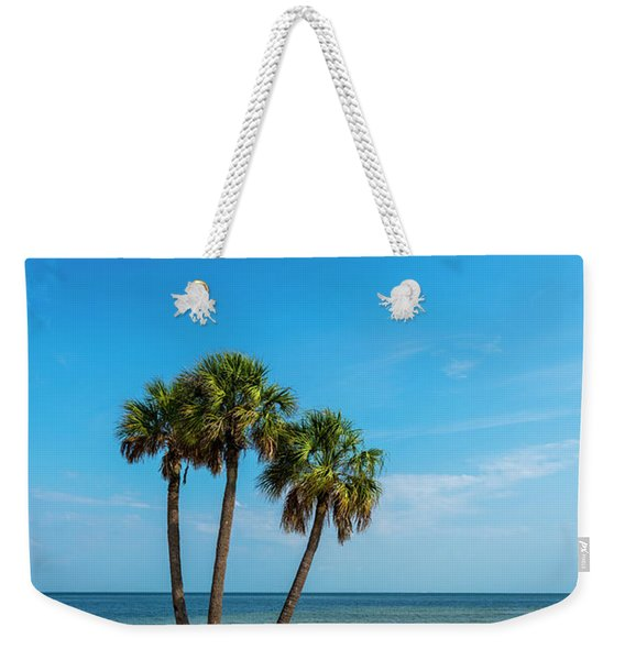 Three Palms Weekender Tote Bag