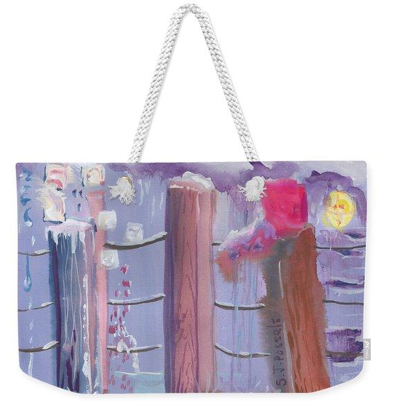 Three Pillars Weekender Tote Bag