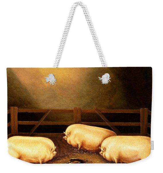 Three Prize Pigs Weekender Tote Bag