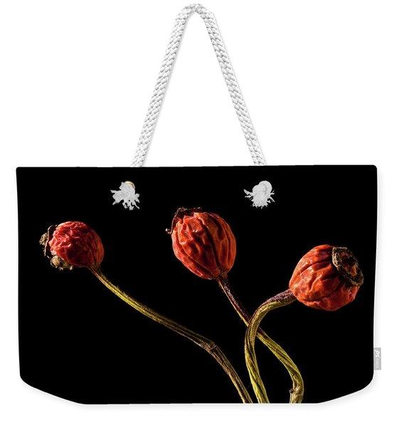 Three Rose Hips Weekender Tote Bag