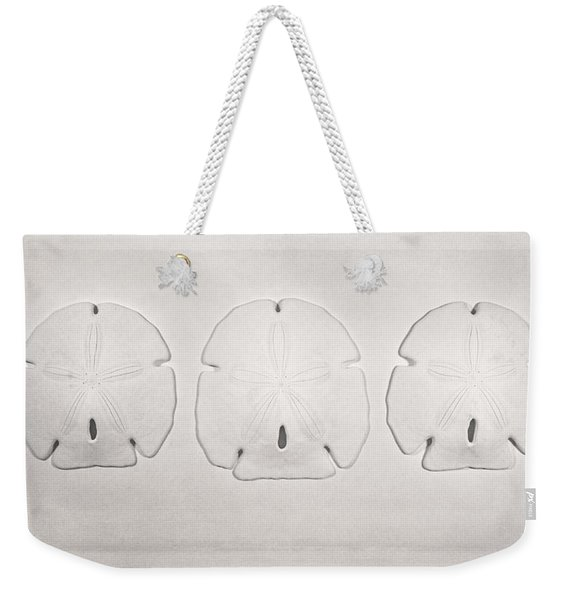 Three Sand Dollars Weekender Tote Bag
