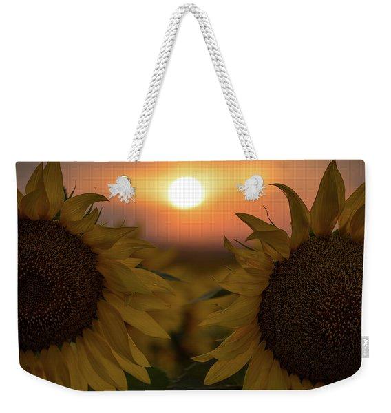 Three Suns Weekender Tote Bag