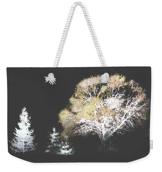 Three Trees In The Dark Weekender Tote Bag