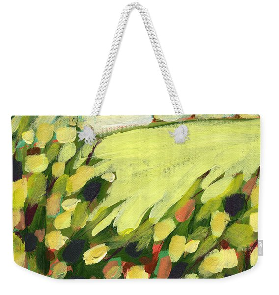 Three Trees On A Hill Weekender Tote Bag