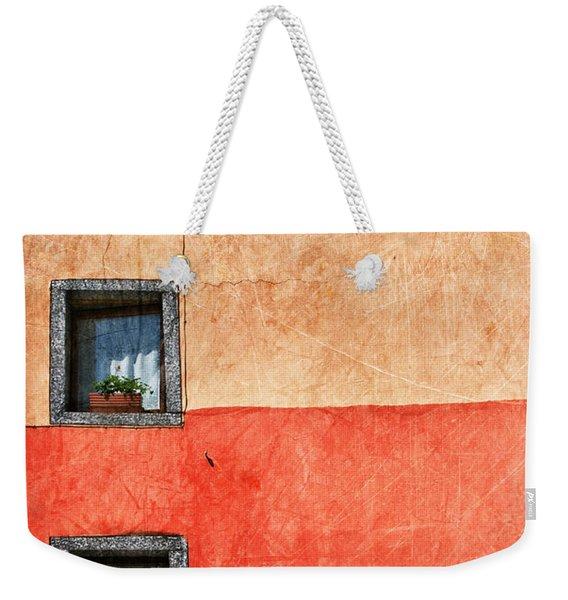 Three Vertical Windows Weekender Tote Bag