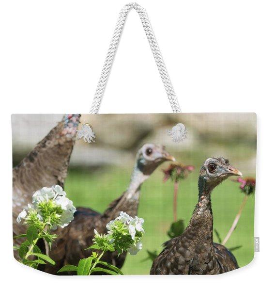 Threes A Crowd Weekender Tote Bag