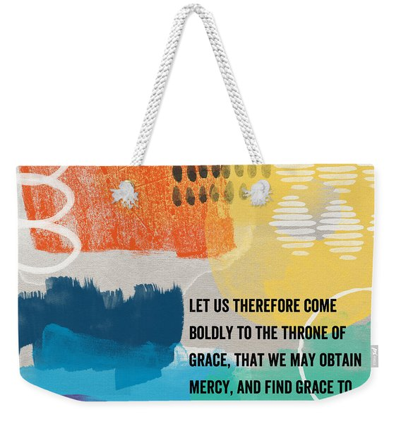 Throne Of Grace- Contemporary Christian Art By Linda Woods. Weekender Tote Bag