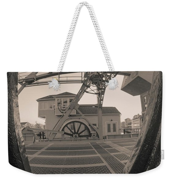 Through The Gear In Mystic Ct Weekender Tote Bag