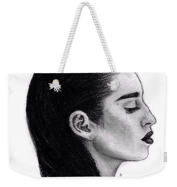 Lauren Jauregui Drawing By Sofia Furniel Weekender Tote Bag