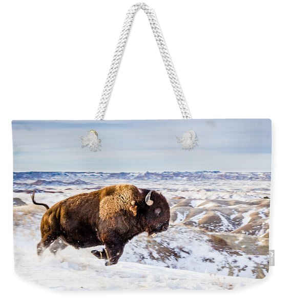 Thunder In The Snow Weekender Tote Bag