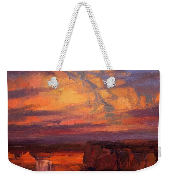 Thundercloud Over The Palouse Weekender Tote Bag