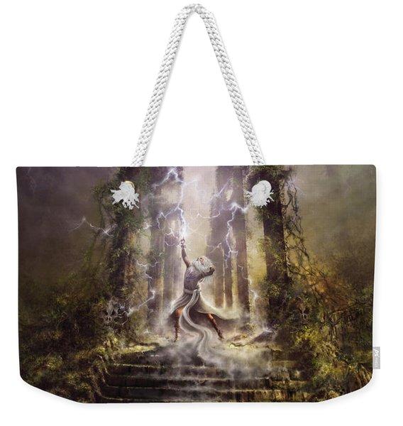 Thunderstorm Wizard Weekender Tote Bag