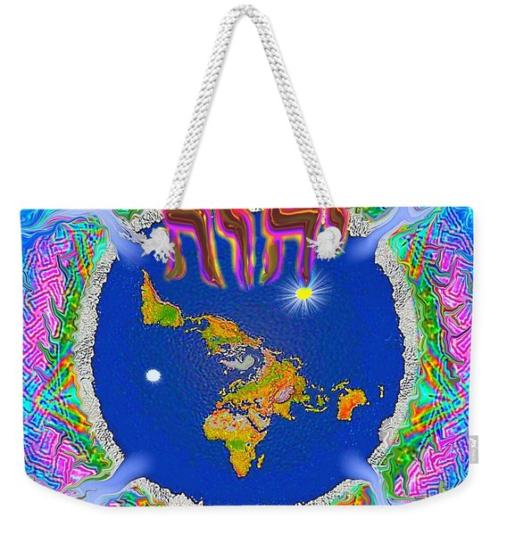 Y H W H Creation Mandala Flat Earth Weekender Tote Bag