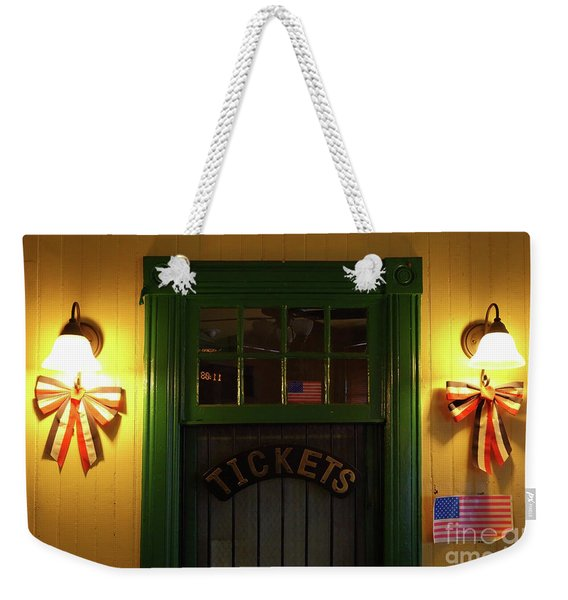 Ticket Office At Brunswick Station Maryland Weekender Tote Bag