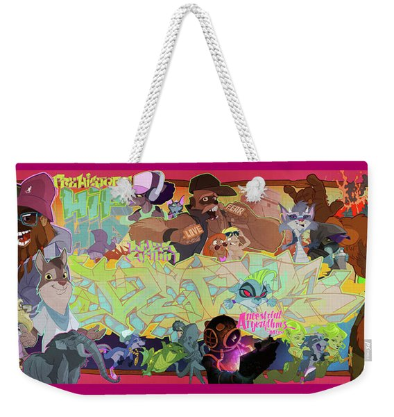 Weekender Tote Bag featuring the digital art Tidal Recall 2 by Nelson  Dedos Garcia