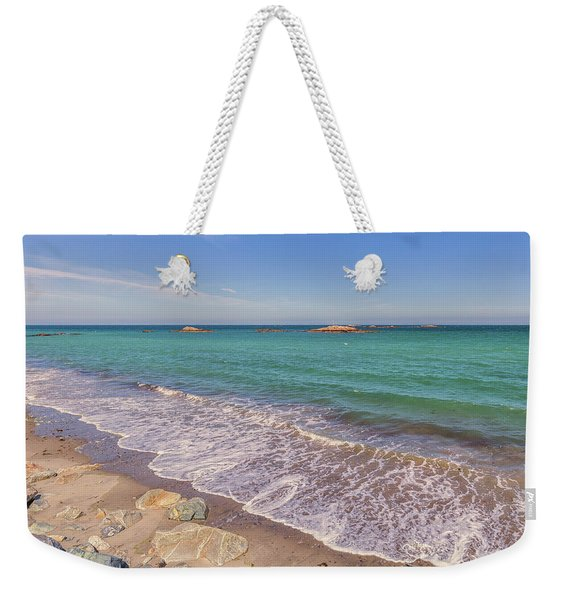 Tide Change At Minot Beach In Scituate Massachusetts Weekender Tote Bag