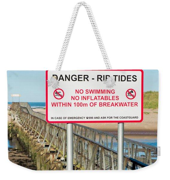 Tide Warning Weekender Tote Bag