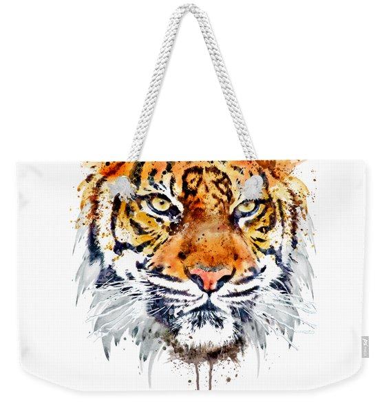 Tiger Face Close-up Weekender Tote Bag