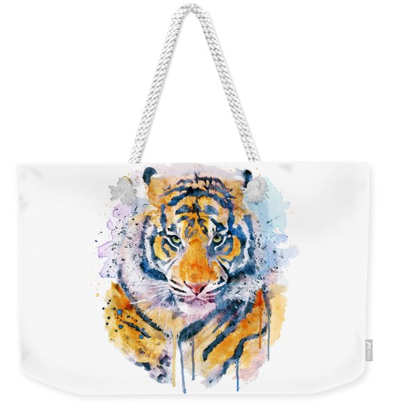 Tiger Face Weekender Tote Bag