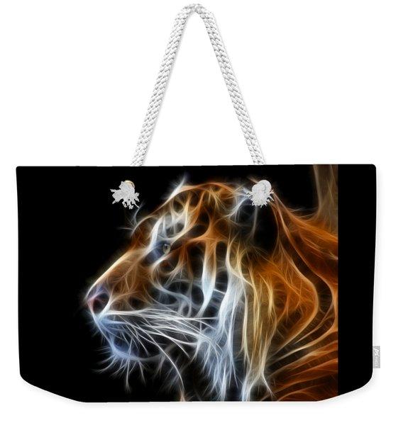 Tiger Fractal Weekender Tote Bag