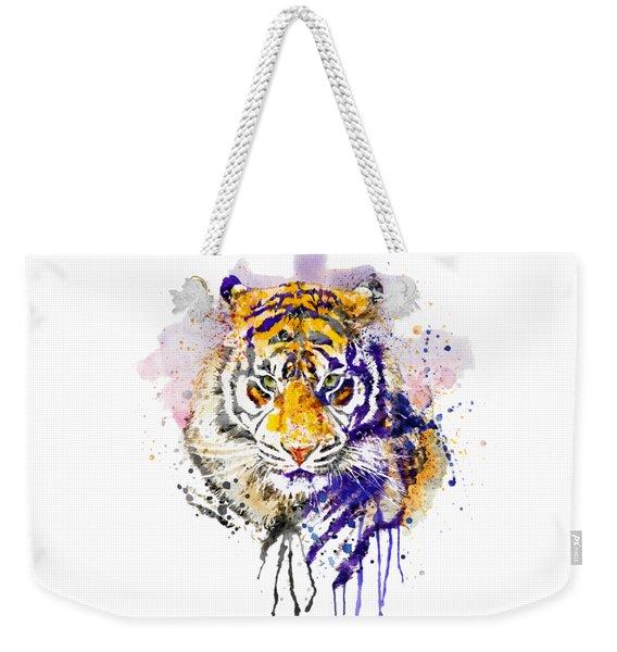Tiger Head Portrait Weekender Tote Bag