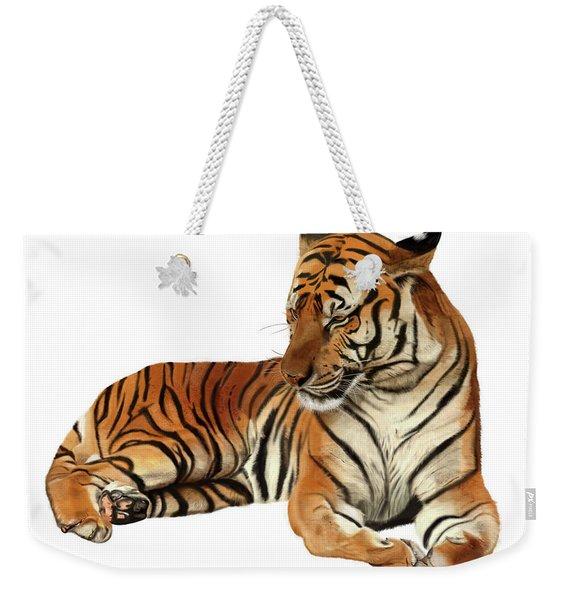 Tiger In Repose Weekender Tote Bag