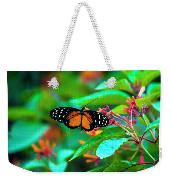 Tiger Longwing Butterfly Weekender Tote Bag