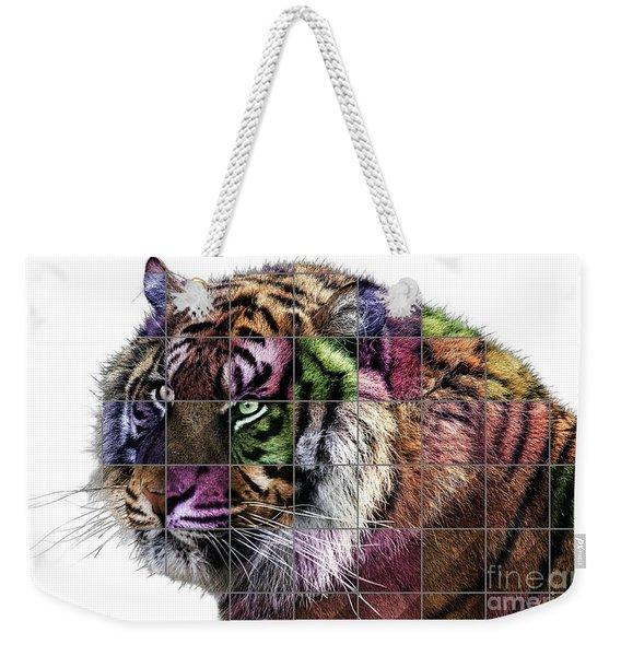 Tiger Pop Art Weekender Tote Bag