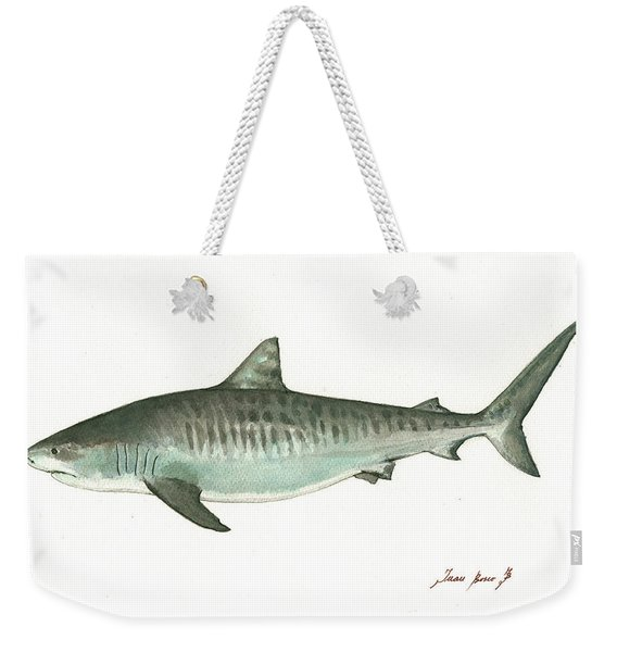 Tiger Shark,  Weekender Tote Bag