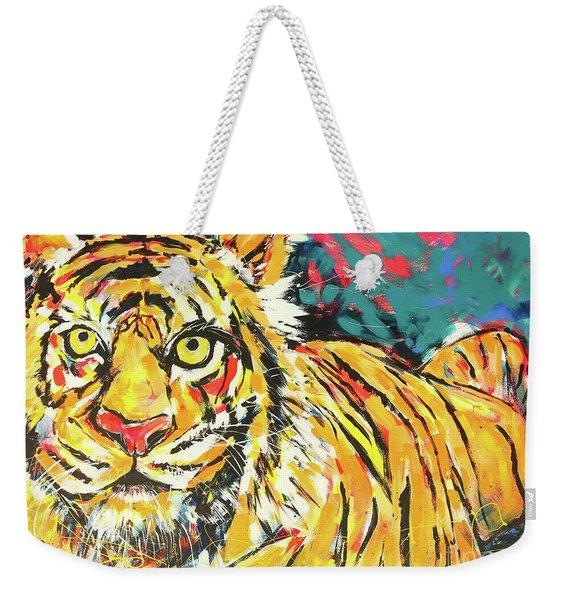 Tiger#1 Zoo Atlanta Weekender Tote Bag