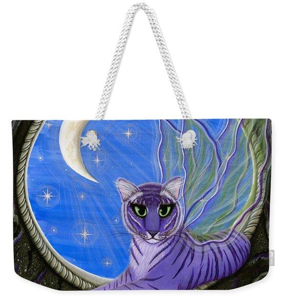 Tigerpixie Purple Tiger Fairy Weekender Tote Bag