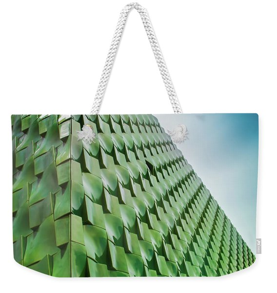Tile Wall Of The Ringling Museum Asian Center View 2 Weekender Tote Bag