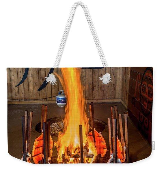 Tillicum Village Salmon Cook Weekender Tote Bag