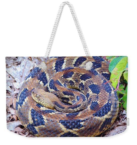 Timber Rattler Weekender Tote Bag