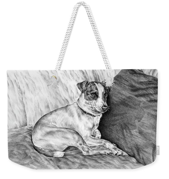 Time Out - Jack Russell Dog Print Weekender Tote Bag
