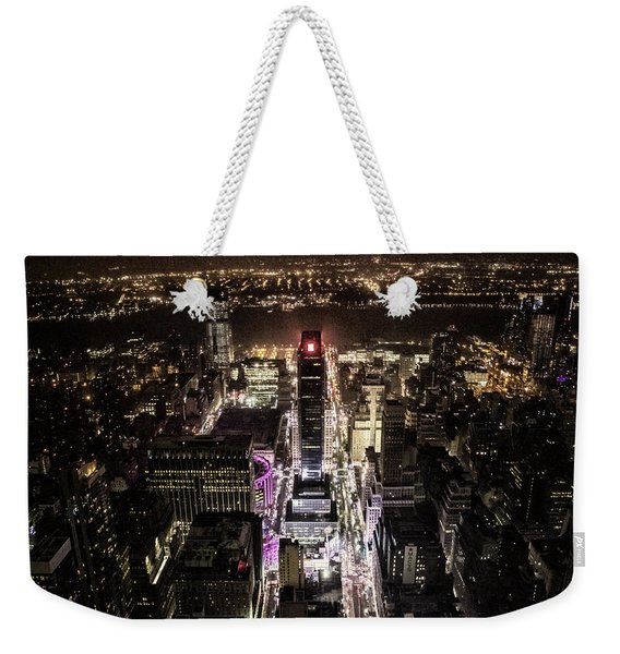 Time Square From Above Weekender Tote Bag