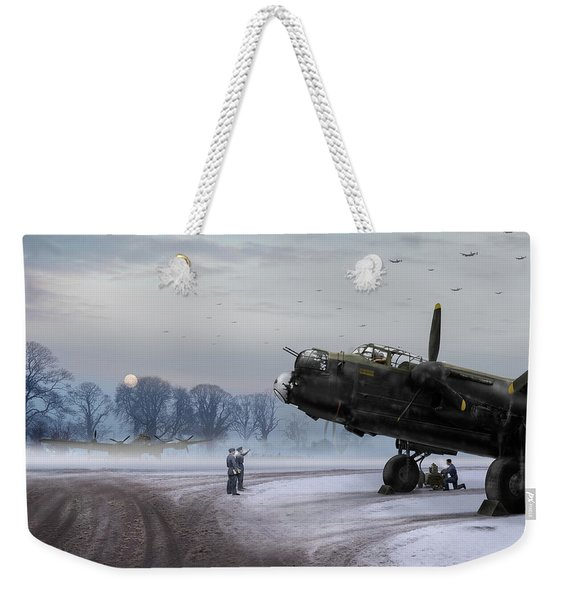 Time To Go - Lancasters On Dispersal Weekender Tote Bag