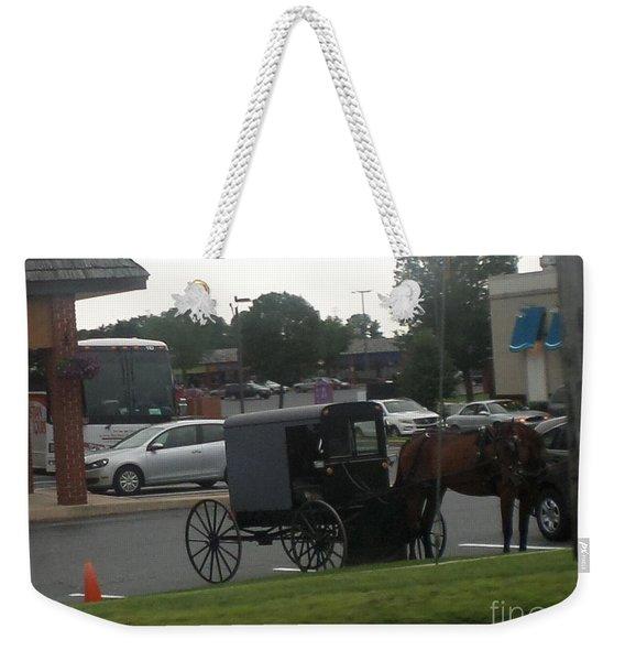 Time To Shop Weekender Tote Bag
