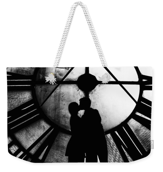 Timeless Love - Black And White Weekender Tote Bag